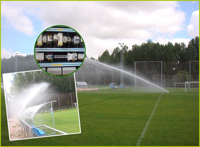 Greenplus para regar un complejo deportivo de fútbol
