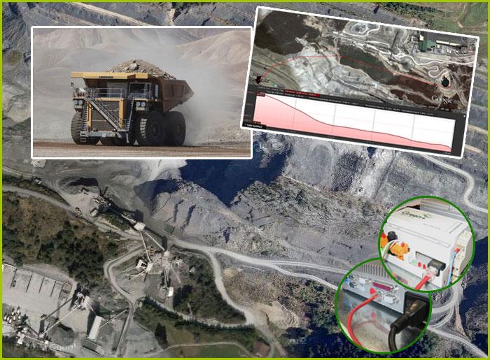 Greenplus para realizar un riego antipolvo en minas
